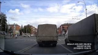 25 09 2015 Кемерово, перекрёсток ул.Красноармейская и ул.50 лет Октября
