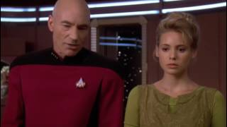 Picard and Q discussion about morality