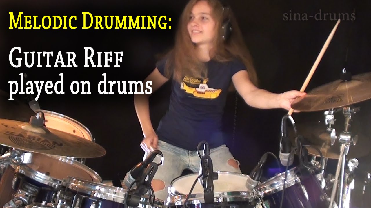 Whole Lotta Love (Led Zeppelin); Guitar Riff played on drums (by Sina)