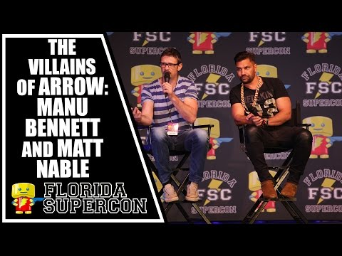 The Villains of Arrow Panel with Manu Bennett and Matt Nable at Florida Supercon 2015