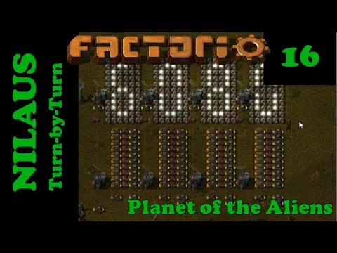Lets Play Factorio S5E16 - Displaying count of Logistics Network with lights