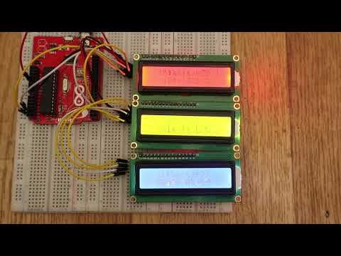 i2c 16x2 LCD example with Arduino