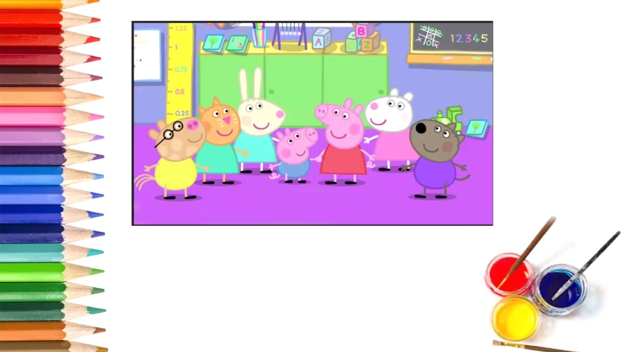 pig coloring pages for preschoolers - photo#43
