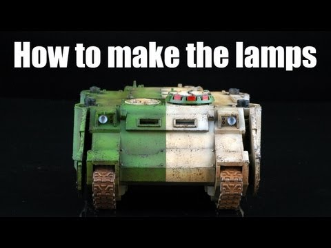 How to make the lamps in scale models?