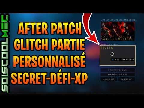 PERSONNALISER VOS REL PARTIES GLITCH LOBBY CUSTOME ZOMBIE SECRET XP PLAMA FACILE TOUTE LES MAPS