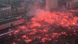 Marsz Niepodległości 2018 11 listopada - Hymn zaśpiewany przez 200 tysięcy osób