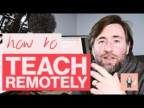 how to teach remotely - tips for how to teach from home