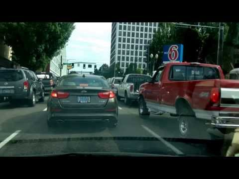 Drive Through Downtown Portland, Oregon; No Turn Intersections were a surprise