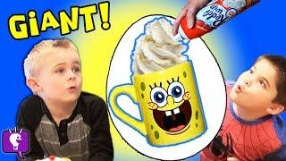 GIANT SpongeBob Surprise TOY Egg with HobbyKidsTV
