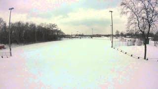 Oak Park MI Sledding Hill - Hamilton Hill at Shepherd Park - GoPro
