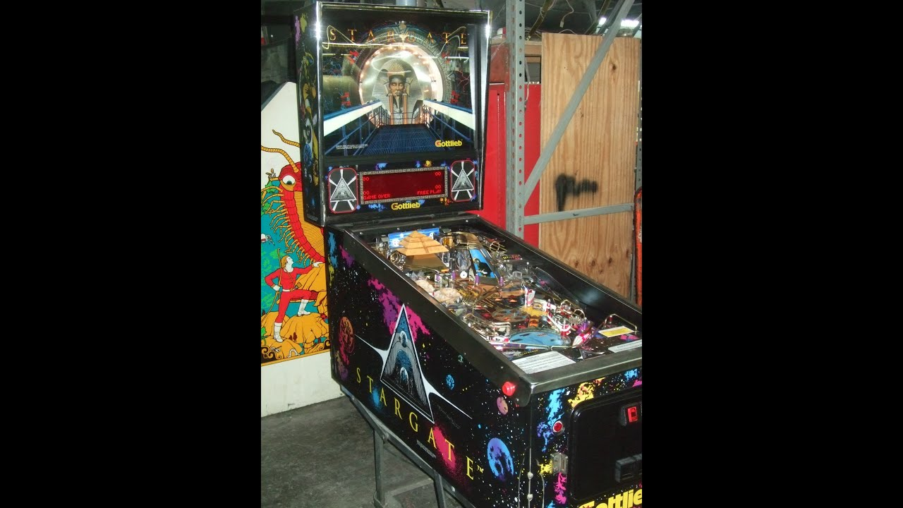#418 Gottlieb STARGATE Pinball Machine with extra LED Lighting added - TNT  Amusements