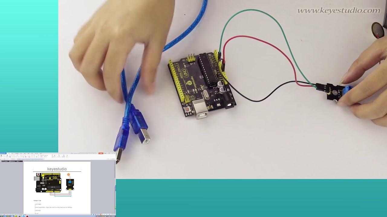 KS0272 keyestudio Analog Piezoelectric Ceramic Vibration Sensor