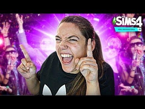 MINHA PRIMEIRA FESTA NA FACULDADE! - The Sims 4 Vida Universitária