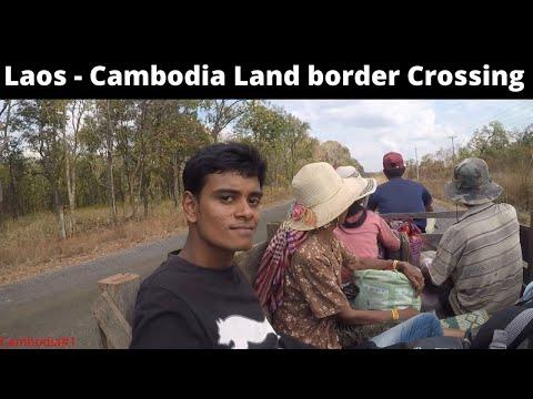 Laos-Cambodia Land Border Crossing || Sim Cards || Hitchhiking