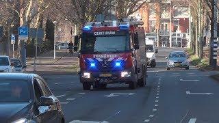 Brandweer Den Haag Centrum HW7850 + TS7830 naar een Woningbrand in Den Haag