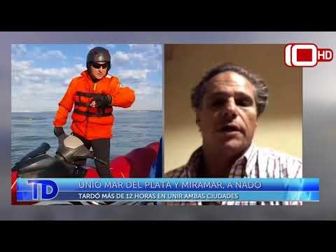 Unió Mar del Plata y Miramar nadando