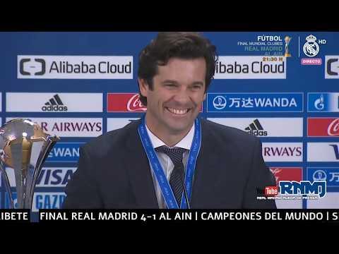 Real Madrid 4-1 Al Ain Rueda de prensa de SOLARI | FINAL Mundial de Clubes EAU 2018
