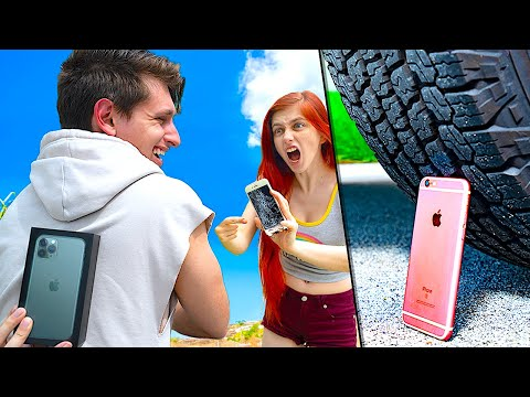 Crushing My Girlfriend's iPhone 6, Then Giving Her iPhone 11 Pro