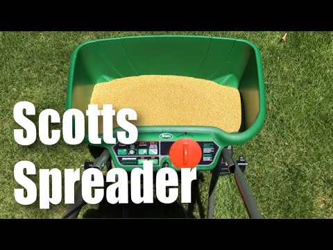 Scotts Turf Builder Edgeguard Deluxe Dlx Broadcast Lawn For Sq Ft Spreader Review