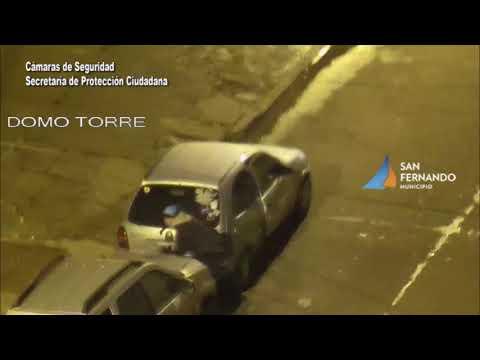 Intento de robo de un auto en San Fernando