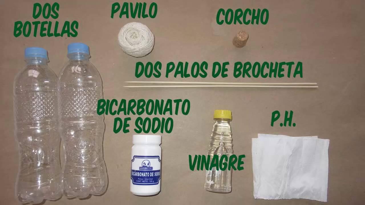 Como hacer cohetes con bicarbonato y vinagre youtube - Como pegar corchos de botellas ...