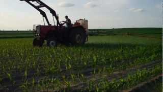 Opryskiwanie kukurydzy / Ursus c360 76r. / Kujawy / 2012  [HD]