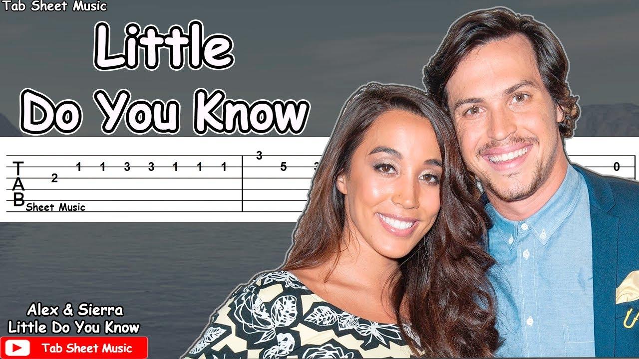 Alex & Sierra - Little Do You Know Guitar Tutorial