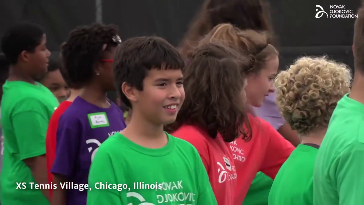 Chicago Youngsters Given Once In A Lifetime Opportunity To Play Tennis With Novak Djokovic Novak Djokovic Foundation