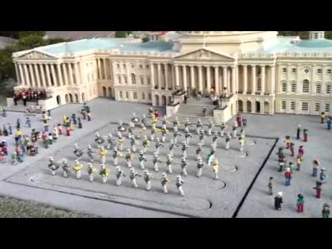 Legoland Marching Band in front of Lego-ized US Capitol