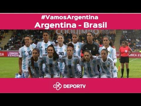 #VamosArgentina - VIVO - Brasil vs. Argentina  (Copa America Femenina Chile 2018)