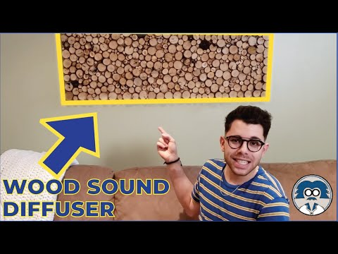 EASY DIY | Wood Sound Diffuser | Wood Wall Art