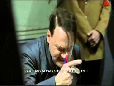 Hitler reacts to Chihiro getting dumped. (TWGOK Jelly Wars)