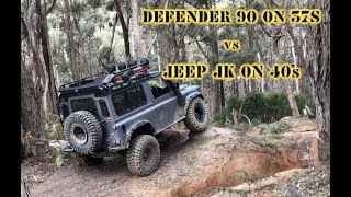 Defender 90 on 37's VS Jeep JK on 40's