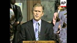 USA: AUSTIN: GEORGE W BUSH SWORN IN AS GOVERNOR OF TEXAS
