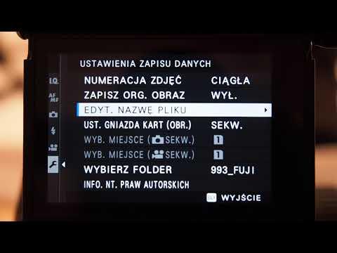 Fujifilm X-Pro3 - Ustawienie Zapisu Danych