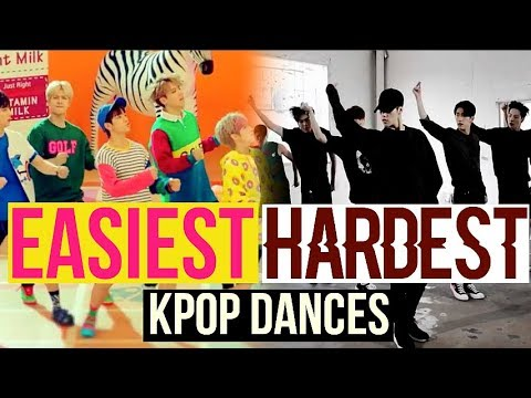 EASIEST VS HARDEST KPOP DANCES BTS, EXO, TWICE, RED VELVET, NCT127 AND MORE