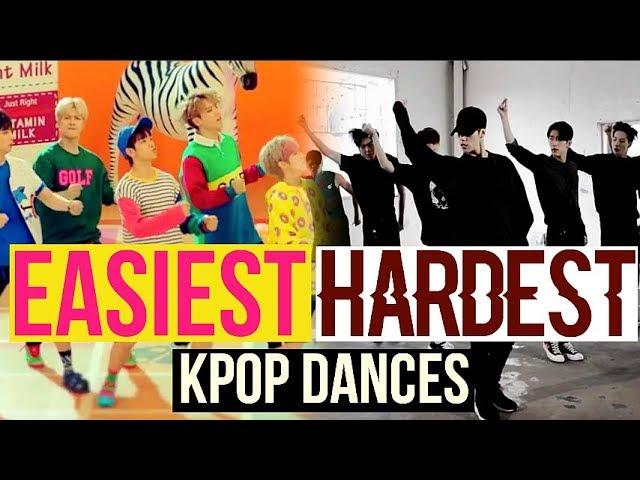 EASIEST VS HARDEST KPOP DANCES (BTS, EXO, TWICE, RED VELVET, NCT127 AND MORE...)