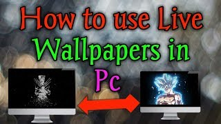 How To Use Live Wallpapers In Windows Pc (hindi) || Desktophut!