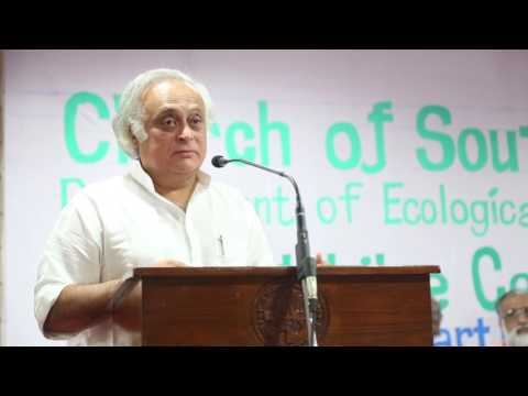 Dr. Jayaram Ramesh at Silver Jubilee of the Ecological Concerns Dept. of CSI Synod