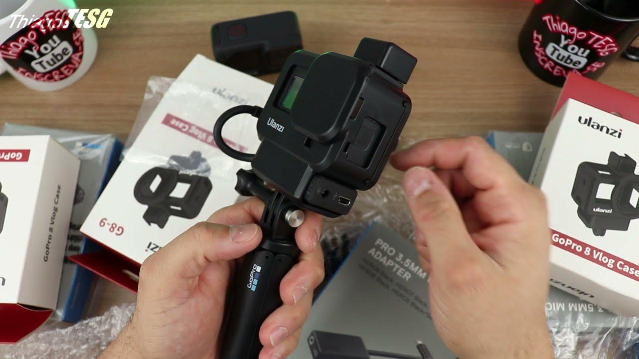 CASE PRA USAR COM ADAPTADOR De MICROFONE 3.5mm GOPRO HERO 5/6/7/8 E 9