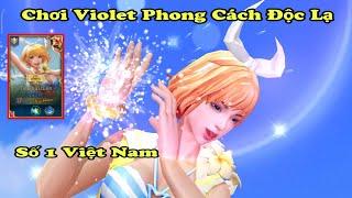 [Liên Quân] Chơi Violet Tiệc Bãi Biển Phong Cách Cực Kì Độc Lạ Có Một Không Hai Ở Việt Nam, Cực Gắt.