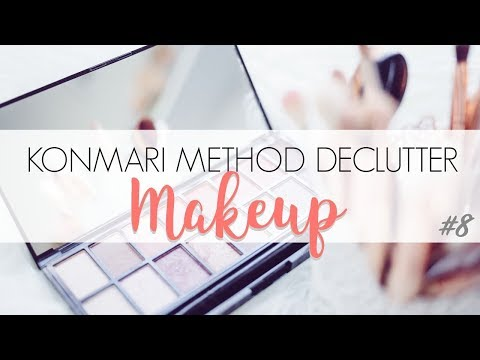KonMari Method Komono: Makeup Declutter BEFORE & AFTER
