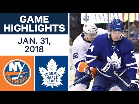 NHL Game Highlights | Islanders vs. Maple Leafs - Jan. 31, 2018