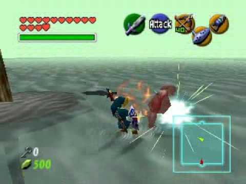 Zelda Ocarina of Time - Dark Link - No damage - YouTube