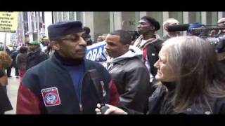 Amy Goodman Covers Protest Against the New York Post Racist Cartoon 2/19/09
