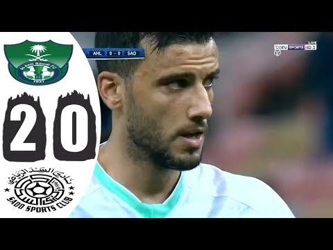 ملخص مباراة الاهلي السعودي والسد القطري 2-0🔥تنائية عمر السومة 🔥حفيظ دراجي HD
