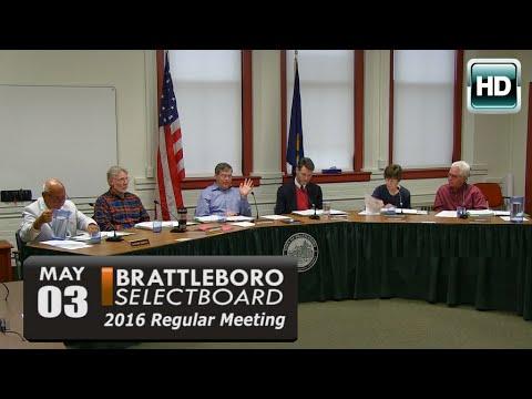 Brattleboro Selectboard Mtg 5/3/16