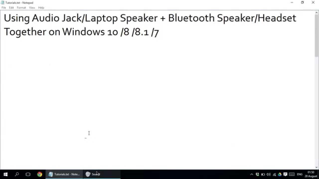 Using Audio Jack Laptop Speaker Bluetooth Headset Together Stereo Input Wiring On Windows 10 8 81 7