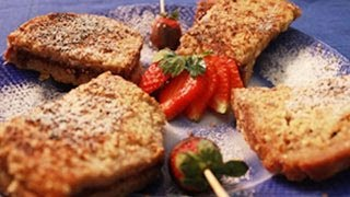 Valentines Day Special -- Hazelnut Strawberry French Toast