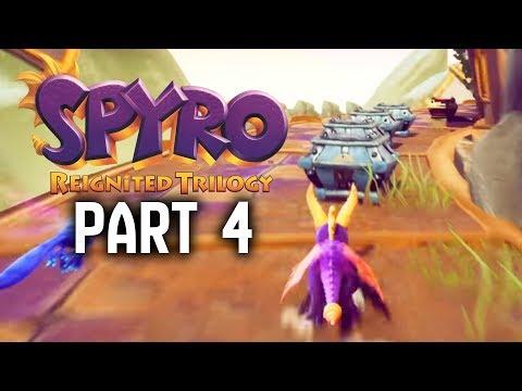 SPYRO REIGNITED TRILOGY Walkthrough Part 4 - 100% Magic Crafters / Blowhard & Wizard Peak